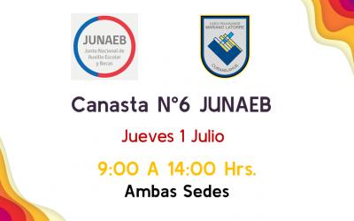 6ª Canasta, Jueves 1 Julio.